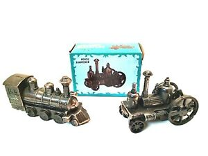 Vintage Die Cast Miniature Antique Train Locomotive Pencil Sharpener