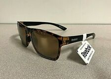 New Reebok Mens' Cycling Golf  Square Sport Sunglasses Impact Resistant Lens