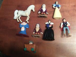 McDonald's Disney Snow White and the Seven Dwarfs Figures Lot of 8