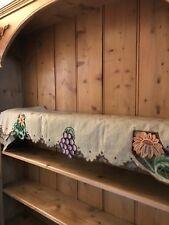 More details for french vintage embroidered shelf runner