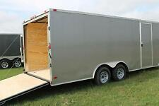 8.5x18 Enclosed Trailer Cargo V-Nose Car Hauler 8 Motorcycle Utility 20 2017