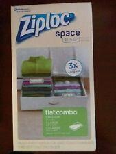Ziploc Space Bag Vacuum Seal Bags - Flat Combo Set NIB Waterproof Airtight Reuse