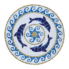 Dolphin Medallion Ceramic Swimming Pool Mosaic