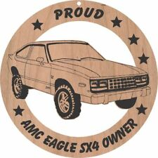 AMC Eagle SX4 Wood Ornament Engraved