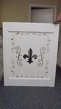 PVC Vinyl Garden Gate 3'x4' White Decorative CNC cut Design Custom Fence