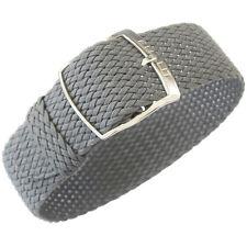 18mm EULIT Panama Grey Tropic Woven Nylon Perlon German Made Watch Band Strap
