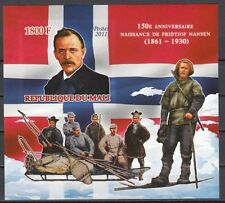 Mali, 2011 issue. Antarctic Explorers, IMPERF s/sheet.