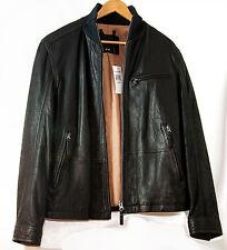 New Timberland Men's Leather Stratham bomber jacket size Medium