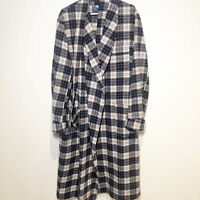 Pendleton Vintage  70s Men's Plaid Belted Robe Pure Virgin Wool USA Made Size L