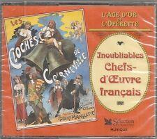 COFFRET 3 CD COMPIL 54 TITRES-INOUBLIABLES CHEFS-D'OEUVRE FRANCAIS DE L'OPERETTE