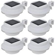 Lampe solaire LED pour clôture/gouttière/jardin 6 pcs Lumière de clôture