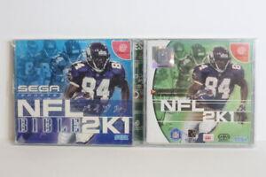 NFL 2K1 & 2K1 Bible SEGA Dreamcast DC Japan Import US Seller SHIP FAST