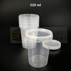 Lock Tub Plastic Container Tamper Proof Food Storage Dessert Ice cream soup/stew