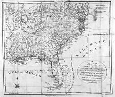 Map. 1790s. Virginia, N Carolina, S Carolina, Georgia