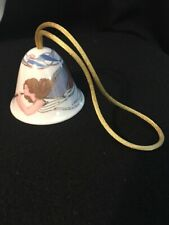 Lladro Celestial Music Bell Christmas Ornament 2003 Angel Holiday Gilded Retired