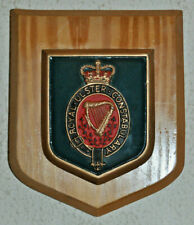 Royal Ulster Constabulary mess wall plaque shield crest Police RUC