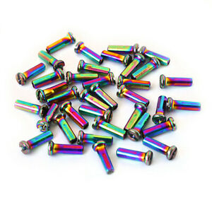 14G Bicycle Spoke Nipples 36pcs Oil Slick Spoke nipples BMX ARMOUR BIKES