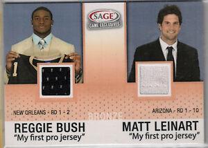 2006 SAGE Game Exclusives Reggie Bush Matt Leinart RC Jersey Patch USC Trojans