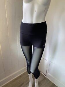 Alo Yoga Mesh Legging Size S Black Mesh Small