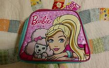 Barbie Thermos Insulated Zipper School Lunch Tote Bag Pink Poodle Studs NEW!