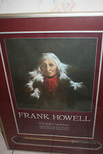 "FRANK HOWELL INDIAN ""SYMPHONY"" HAND SIGNED STUDIO SHOW POSTER & ARROW DISPLAY"