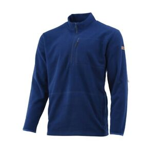 Huk Performance Fishing  Channel Fleece Jacket  Men Small  1/4Zip  Blue  NWT$80