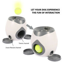 Automatic Interactive Ball Tennis Launcher Dog Pet Toys Training Feeding Safety