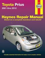 Toyota Prius Service Repair Shop Manual Haynes 2001 Thru 2012 Book