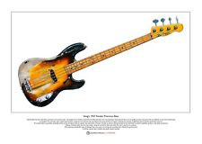 Sting's 1957 Fender Precision Bass Limited Edition Fine Art Print A3 size