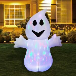 GOOSH 5FT Inflatable Halloween Ghost with The Magic Light Blow Up Inflatables