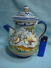 Tetera de Cerámica,  A teapot ceramic of Spanish Pottery BIRDS AND DEER