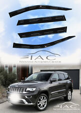 Chrome Trim Side Window Visors Guard Vent Deflectors For Jeep Grand Cherokee 11-