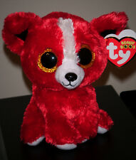 "Ty Beanie Boos TOMATO the 6"" Dog ~ Show Exclusive~ NEW ~ MINT with TAG PROTECTOR"