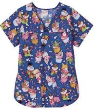 "Christmas Scrub Top ""Candyland Cupcakes"" - 3XL"