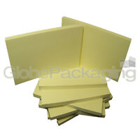 """12 x LARGE REPOSITIONAL YELLOW NOTE STICKY PADS 5""""x3"""""""