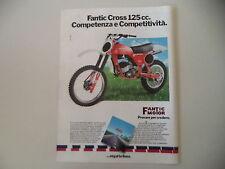 advertising Pubblicità 1980 FANTIC CROSS COMPETIZIONE 125