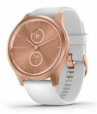 Garmin Vivomove Style Hybrid Smartwatch Rose Gold with White Band Brand New