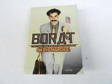 VINTAGE RECTANGULAR PINBACK BUTTON #80-006 - BORAT movie