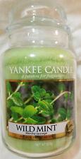 Yankee Candle WILD MINT Large Jar 22 Oz Green Housewarmer New Wax