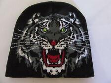 bonnet tête de tigre de face, biker, moto, harley, choppers, triker, lady