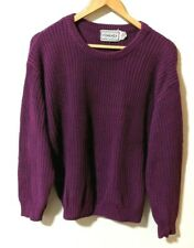 Vintage Forenza Cable Knit Sweater Tunic Purple Womens Large