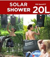 Portable 20L Solar Heated Camping Shower Outdoor Camp Hiking PVC Water Bag New 1