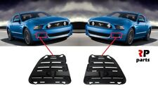 FOR FORD MUSTANG 2013-2015 NEW FRONT BUMPER FOGLIGHT COVER BLACK PAIR SET