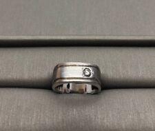 mens 14 k white gold diamond Ring