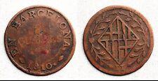 Spagna-occupazione Napoleoniche. 2 Quartos. 1810. barcellona. MBC VF Rare
