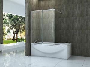Badewannenaufsatz TRAMO Schiebetür Duschabtrennung Badewannen Duschwand