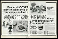 1968 Girves Brown Derby restaurant steakhouse vintage print ad