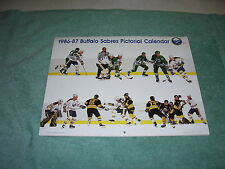 NHL BUFFALO SABRES 1986-1987 HOCKEY FULL SIZE PICTORIAL CALENDAR BUDWEISER BEER