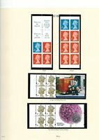 Machin Booklet Panes Collection  on 4 x Windsor Pages -Superb MNH -PHOTOS