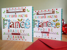 Christmas card for Fiancé/Fiancee -personalised and special card for Fiance